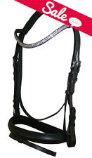 NEW COB English Dressage Show Bridle Clear Crystal U Curve Shape Browband Bling