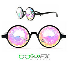 Kaleidoscope Eyeglass trip trippy psychedelic glass rave light eyes intense 3d