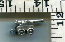 VINTAGE STERLING BRACELET CHARM~3D~MY VERY BEST CANNON IS FOR SALE~5.2G~$21.00!!