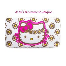 Hello Kitty Daisy Hardcase Wallet Pretty White Flowers Loungefly Bow Sanrio NWT