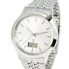 Elegante Funkuhr 3-Zeiger (deutsches Funkwerk) Armbanduhr Edelstahl 964.6905