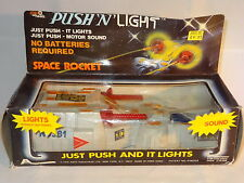 VINTAGE HONG KONG PLASTIC FRICTION DRIVE SPACE ROCKET - 5006  boxed c1979