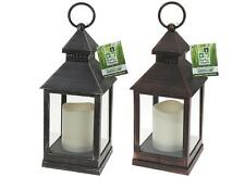 GARDEN LIGHT ORNAMENT SQUARE FLICKERING LED CANDLE LIGHT LANTERN LAMP OUTDOOR