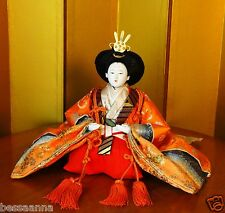 Vintage Seated 8 Inch Royal Asian Oriental Japanese Hina Princess Doll D635458