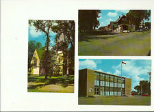 LOT OF 3 GREAT CHROME POSTCARDS, SUSSEX, NEW BRUNSWICK, CANADA