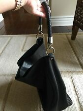 YSL Roady Hobo Handbag Black