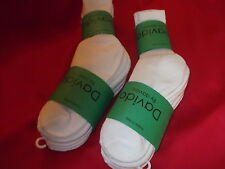 Davido women socks crew made in italy 100% cotton size 6-8 color white 8 pairs