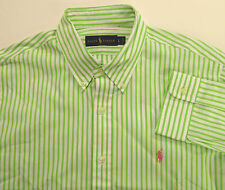 Polo Ralph Lauren LS Bengal Striped Poplin Cotton Shirt Pony $89-98 6 Colors NWT