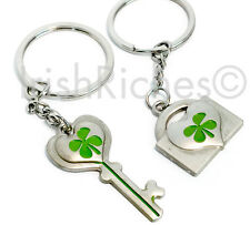 Irish Lucky Shamrock Key Ring Set - 2 in a set for only $12.50!