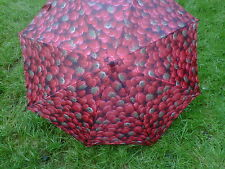 RED STRAWBERRY PATTERN AUTOMATIC OPENING CLASSIC UMBRELLA