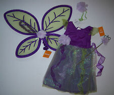 NWT Gymboree Pretty Pixie XS 3/3T-4/4T Purple Fairy Costume Wings & Wand