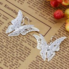 NEW Free shipping fashion jewelry silver charm Butterfly earrings wh786