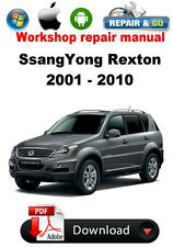 SsangYong Rexton 2001 - 2010 Factory Workshop Repair Manual