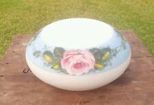LARGE VINTAGE ANTIQUE HANGING LAMP SHADE HAND PAINTED ROSES LAMP SHADE