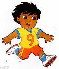 "4.5"" DORA & DIEGO SOCCER SPORT CHARACTER  PEEL STICK WALL BORDER CUT OUT STICKER"