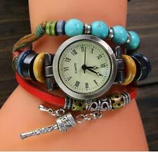 VINTAGE RETRO BRACELET  TURQUOISE  WOMEN WRIST WATCH -RED