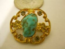 Turquoise - Crystal Brooch/Pin  Price Knocked Down Once