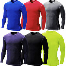 Mens Compression Under Base Layer Thermal Shirt Gym Fitness Sport Tight T-Shirts