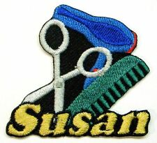 Custom Iron-on Hairstylist Patch With Name Personalized Free