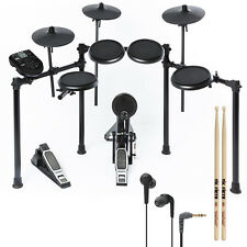 Alesis Nitro Kit 8-Piece Electronic Drum Set Kit Bonus Pack w/ Sticks + Earbuds