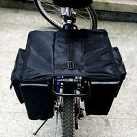Cycling Bicycle Double Pannier Saddle Bag Bike Back Rear Seat Tail Carrier Pouch