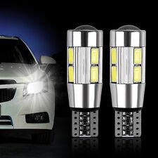 2x Bombillas T10 W5W 10 LED SMD 5630 COCHE Blanco CANBUS Posicion interior 6500K
