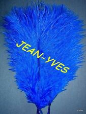 "10 ROYAL BLUE OSTRICH FEATHERS 13-15""L GRADE *B*"