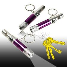 2Pcs Mini Portable 4in1 LED Flashlight Torch Light with Keyring Whistle Compass