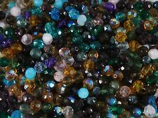Czech Fire Polished 8mm Faceted Glass Beads 50pc Mix Mixed FREE POSTAGE