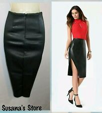 NWT bebe Faux Leather Midi Skirt SIZE M Elegant and attractive classy look!!
