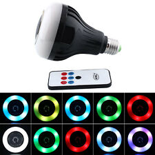 8w Wireless e27 LED RGB ALTOPARLANTE BLUETOOTH AUDIO MUSICA Lampadina Lampada