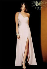 BNWT Lipsy VIP Maxi Embellished Diamonte Long Dress Size 12 New £150 Nude Pink