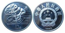 CHINA KM 300  10 Yuan Olympiade 1992 Radfahrer 1990 in PP Proof 472035