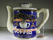"""pottery coffee POT """" MAKESWELL"""" CHEZ CAFE BY CARDINAL 1995 rare"""