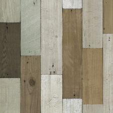 Vintage Wood Panel Pattern Vinyl Self Adhesive Wallpaper Deco living Rooms DWP-8