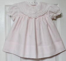 Adorable Carriage Boutiques Vtge.Lined Embroid.Collar Pale Pink Dress Girl 12M