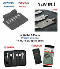 BOSCH 2608587793 Self Cut Spade Flat Drill Bit Set In Wallet 6 Piece