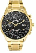 Orient Perpetual Calendar FEU07001BX Black Dial Gold Plated Stainless Steel Men