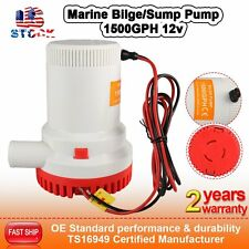 CarBole Submersible 12V 1500GPH Marine Bilge/Sump Water Pump CE RoHS Heavy Duty