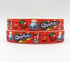 "BTY 7/8"" Red Shopkins Grosgrain Ribbon Hair Bow Lisa"
