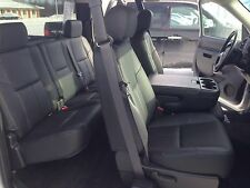 10 11 12 13 Chevy Silverado Extended Cab Katzkin leather seat cover set black