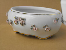 VINTAGE  PORCELAIN BOWL CUP FIRST CLASS WITH ROSE ORNAMENTS made in Bulgaria