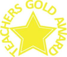 Teachers Gold Award - Self inking teacher reward xstamper stamp