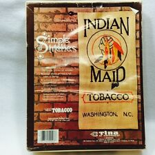 "Tina of California Burlap Tapestry Kit SB12 Tobacco 17""x34"" ""Indian Maid"" Open"