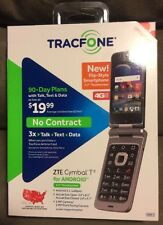 TracFone ZTE Cymbal T Android Prepaid Touchscreen Flip-phone New In Box