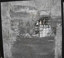 Heinrich Keller Gemälde Komposition Mischtechnik mit Collage auf Holz 1985