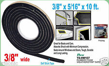 "RUBBER FOAM WEATHER SEAL SELF STICK TAPE WEATHER STRIP 3.8"" X 5/16"" X 10FT BLACK"