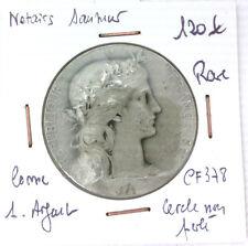 JETON NOTAIRES - SAUMUR - POINÇON CORNE 1. ARGENT - RARE - LEROUGE 378