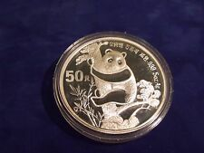 1987 China 5oz Silver PROOF Panda Coin--50 Yuan with BOX and COA