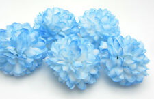 10pcs Daisy Artificial flower Silk Spherical Heads Wedding Decor sky blue 5CM